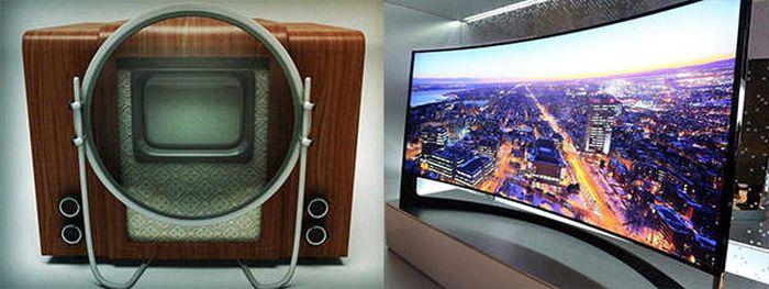 Televisi zaman old ribet nontonnya harus ada kaca pembesarnya