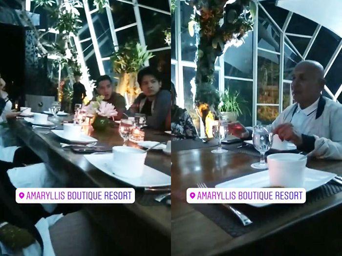 Santi makan malam bersama keluaga Mark Sungkar
