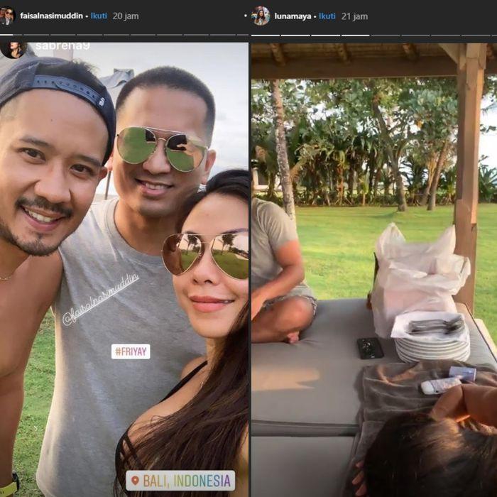 Unggahan Instagram Story Faisal Nasimuddin dan Luna Maya
