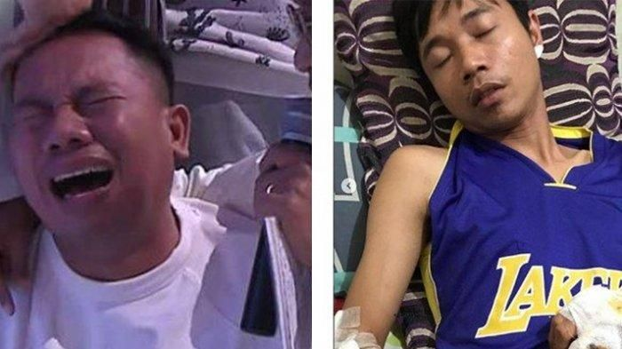 Vicky Prsetyo sedih atas musibah yang dialami adiknya. Sementara Bowo terkulai lemah di rumah sakit
