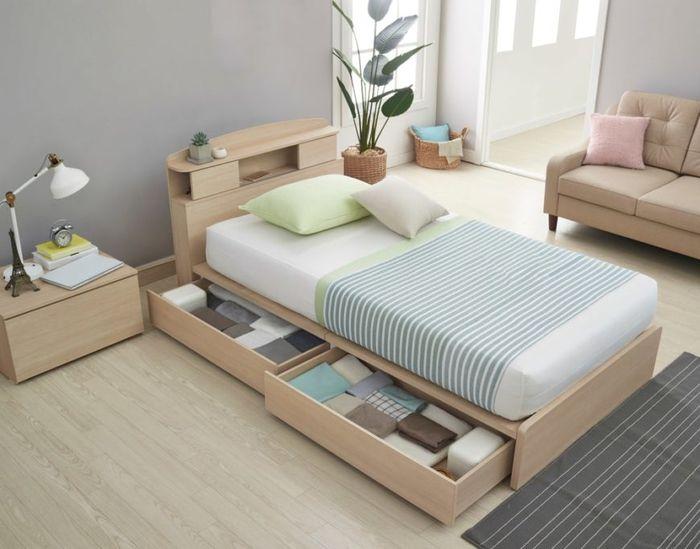 Tempat tidur lengkap dengan penyimpanan