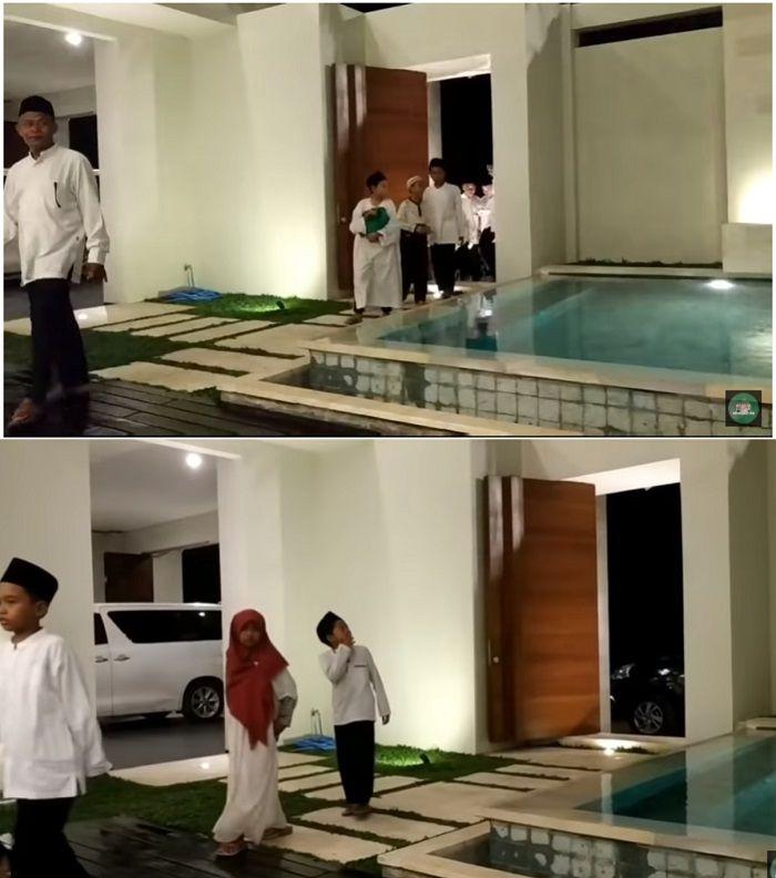 Anak yatim yang hadir diperesmian rumah Anang Hermansyah tampat takjub.