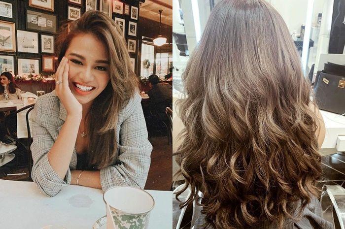 Aurelie Hermansyah dengan rambut ash brown
