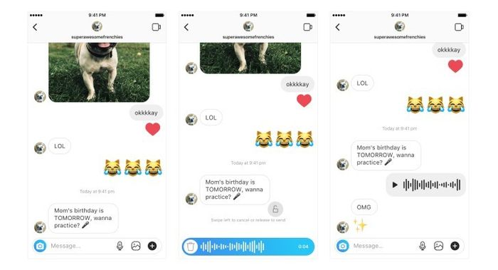 Fitur Voice Chat di Direct Massage (Instagram)