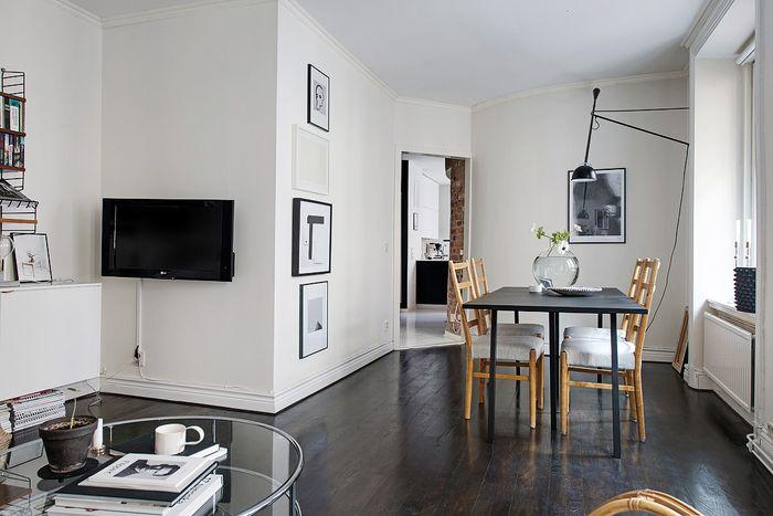 Ruangan tanpa sekat atau ruang terbuka pada apartemen