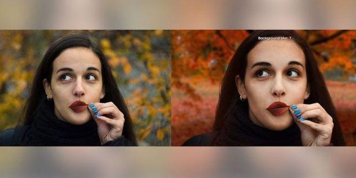 Kiri: Foto Asli Dunjdic, Kanan: Foto editan Samsung untuk iklan Galaxy A8 Star
