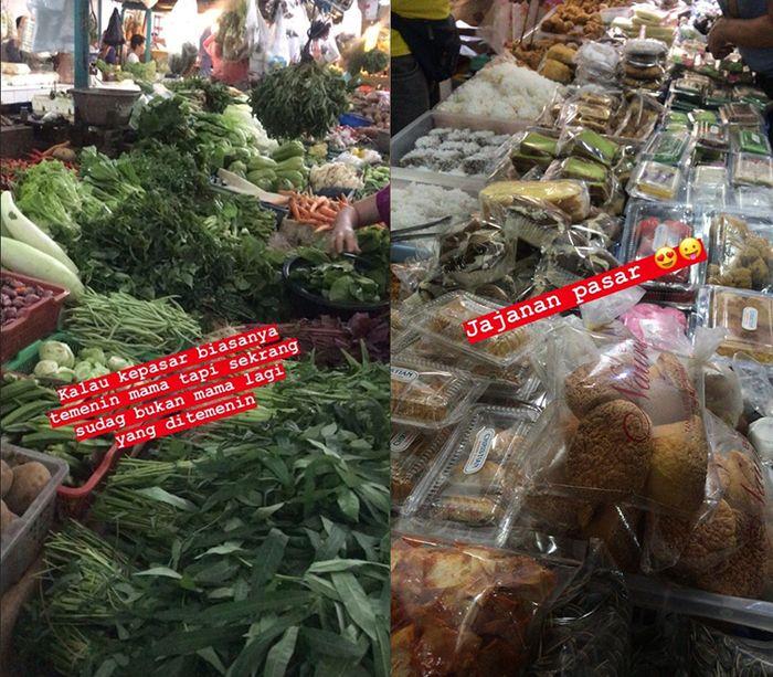 Unggahan Fadel Islami saat menemani Muzdalifah ke pasar.