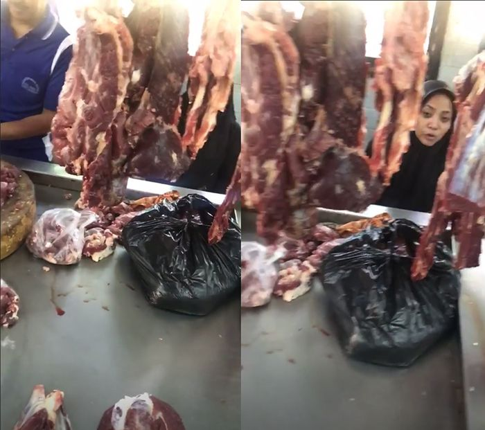 Muzdalifah saat ke pasar bersama Fadel Islami.