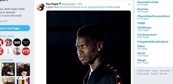 Tangkapan layar foto kontroversial Paul Pogba.