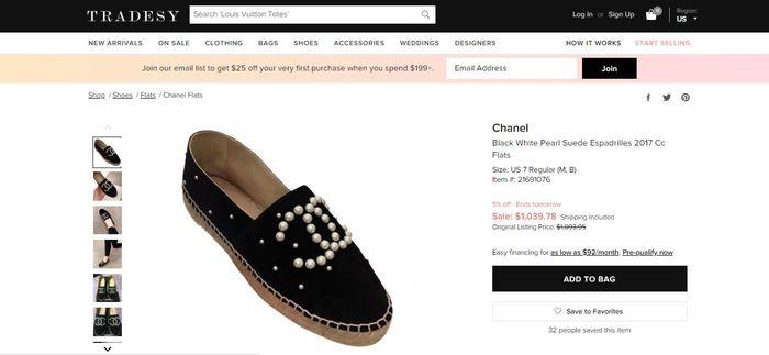 Chanel - Black White Pearl Suede Espadrilles 2017 Cc Flats
