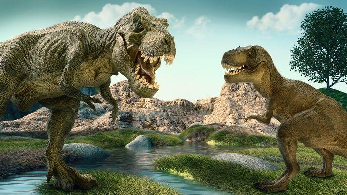 Ilustrasi dinosaurus raksasa.