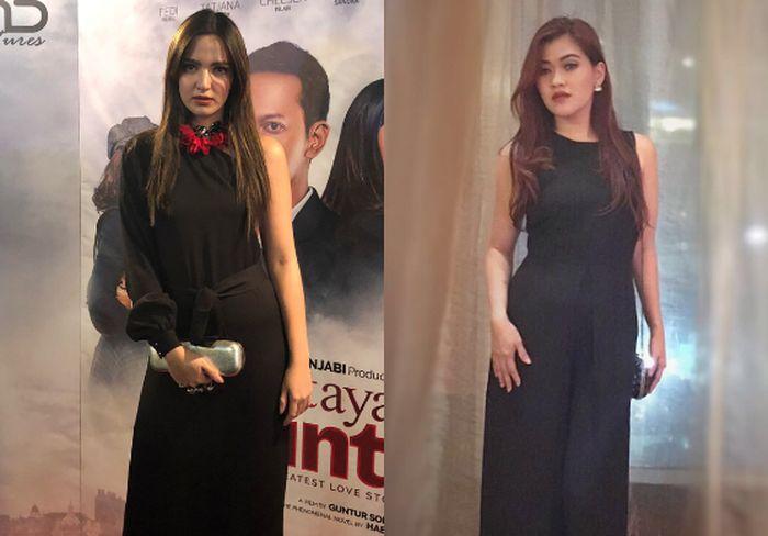 Beda gaya Nia Ramadhani vs Talitha Elizabeth saat mengenakan dress bernuansa hitam