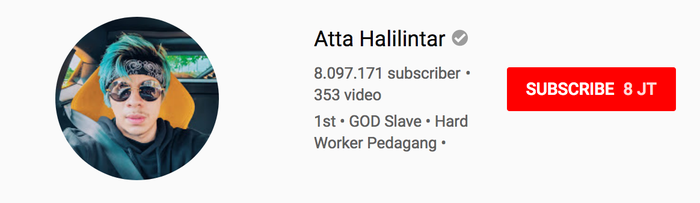 Channel Youtube Atta Halilintar