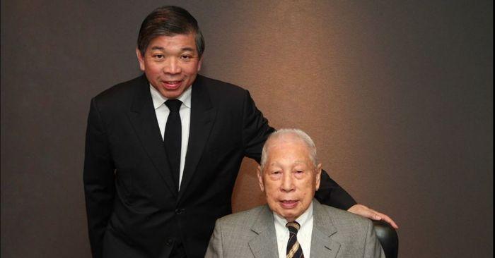Chang Yun Chung bersama putranya.