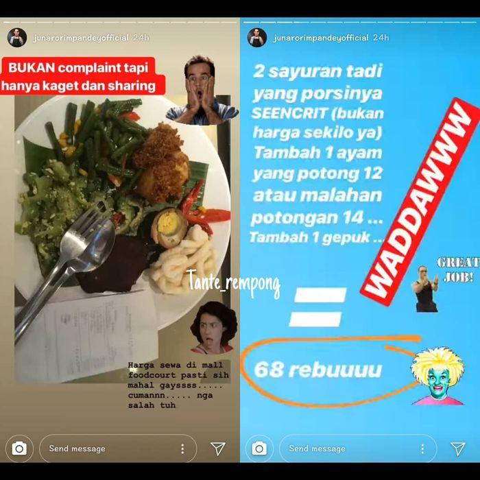 Chef Juna Makan Oseng Sayur di <a href='https://pontianak.tribunnews.com/tag/mall' title='Mall'>Mall</a>, Harganya Tidak Masuk Akal!