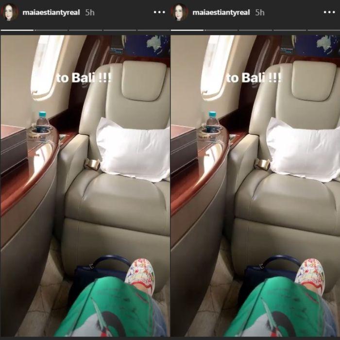 Maia Estianty Pergi ke Bali dengan Menggunakan Jet Pribadi