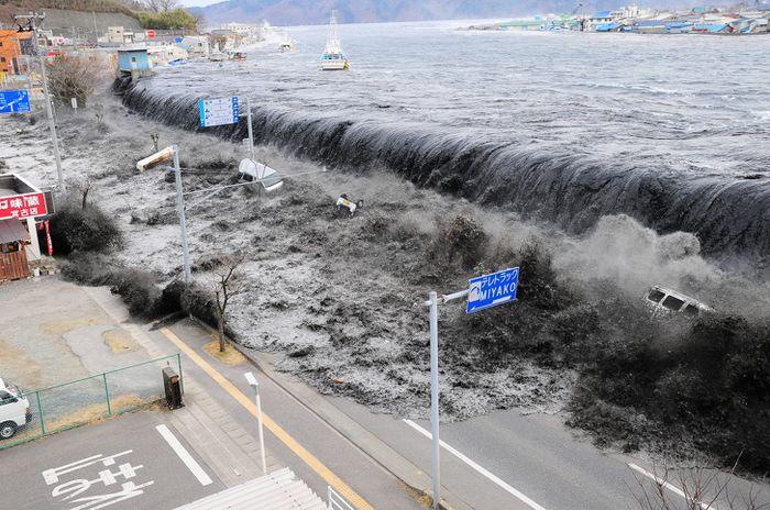 Tsunami di Kota Miyako, Jepang, 2011