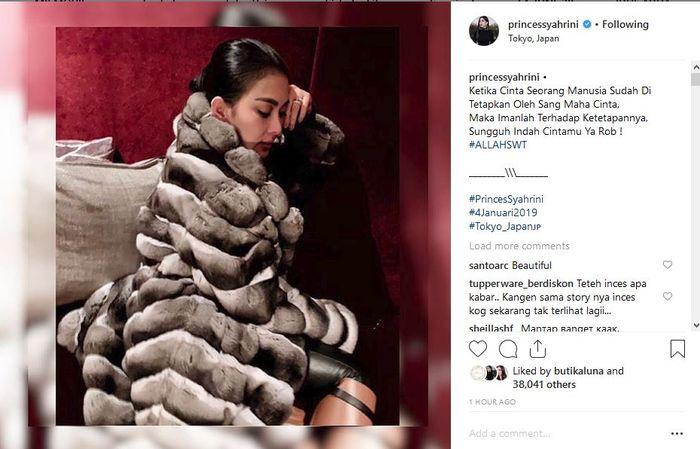 Syahrini curhat soal jodoh di instagramnya