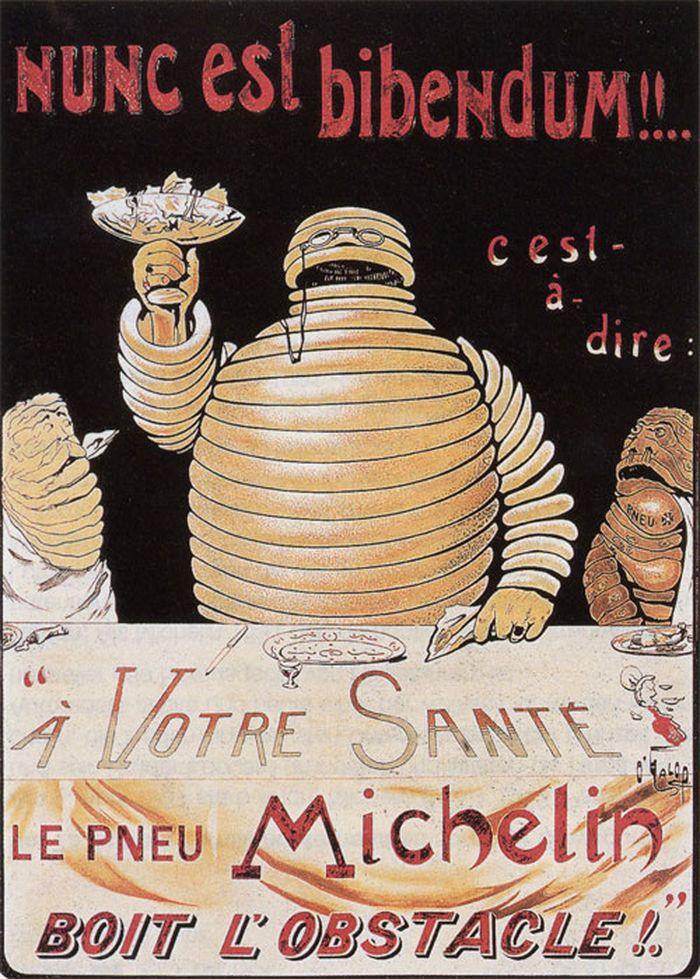 Poster Bibendum yang diperlihatkan O'Galop kepada Andre Michelin
