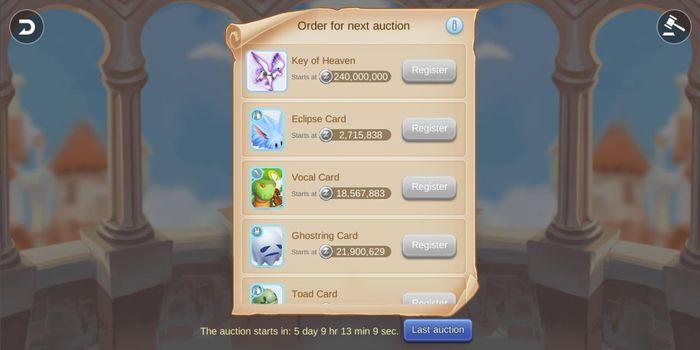 List item langka yang di lelang di Auction House Ragnarok M Eternal Love