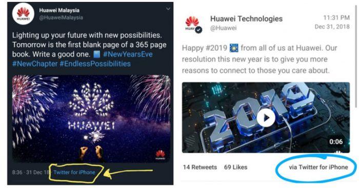 cuitan pegawai Huawei saat pakai iPhone