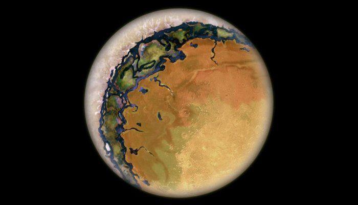 Dua sisi panas kering dan penuh es di planet Bola Mata.