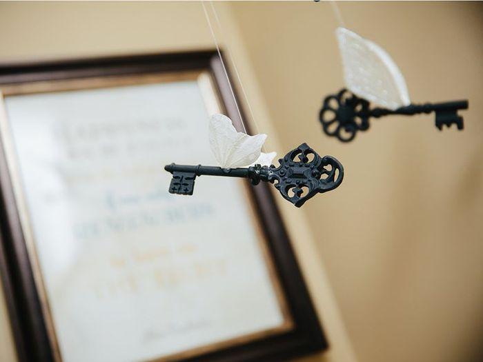 Kunci bersayap sebagai dekorasi