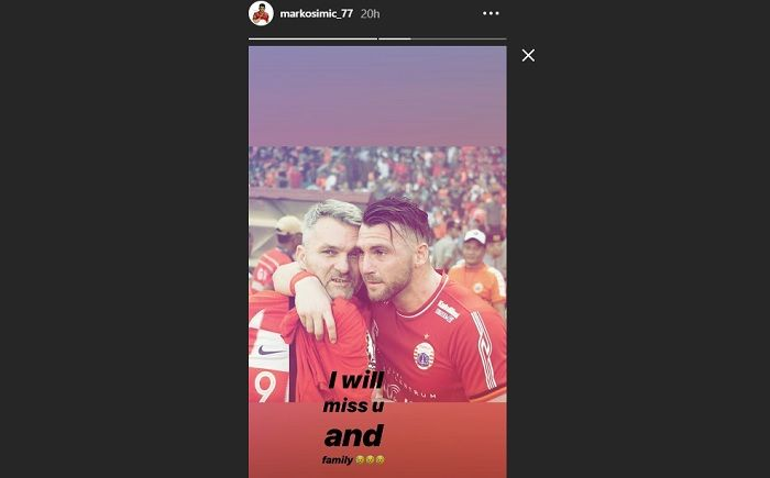 Instastory Marko Simic