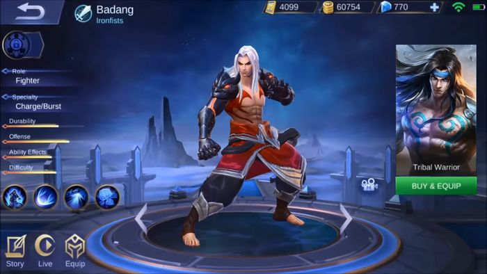 Skin Badang Mobile Legends (Ironfists)