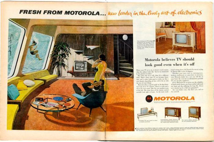 Iklan peralatan rumah di majalah pada masa lalu