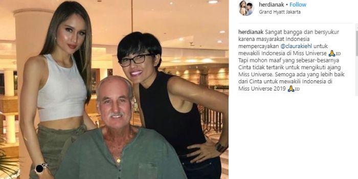 Postingan Instagram ibunda Cinta Laura.