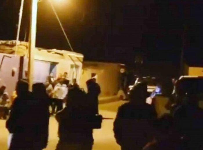 Polisi di lokasi kejadian.