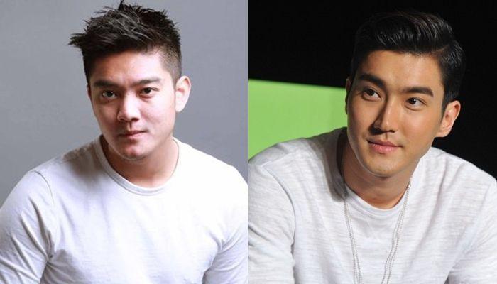 Boy William (kiri) dan Siwon 'Super Junior' (Kanan)