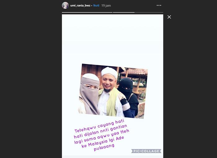 unggahan instagram story ustaz Arifin Ilham