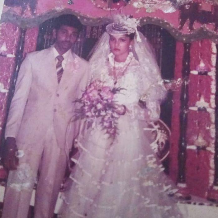 Foto pernikahan orang tua Kimmy Jayanti.