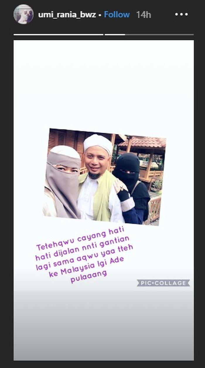 Istri Kedua Ustaz Arifin Ilham tunjukkan kekompakan dengan istri pertama