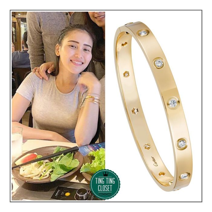 Gelang Love Diamond Bracelet yang dikenakan Ayu Ting Ting.