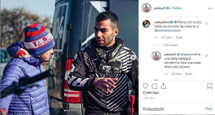 Unggahan Danilo Petrucci di Instagram.