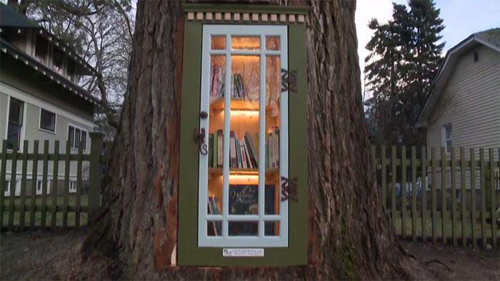 Tampilan luar perpustakaan pohon