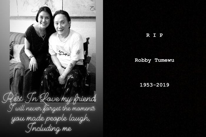 Kabar meninggalnya Robby Tumewu pertama kali diumumkan oleh Becky Tumewu melalui Instagramnya
