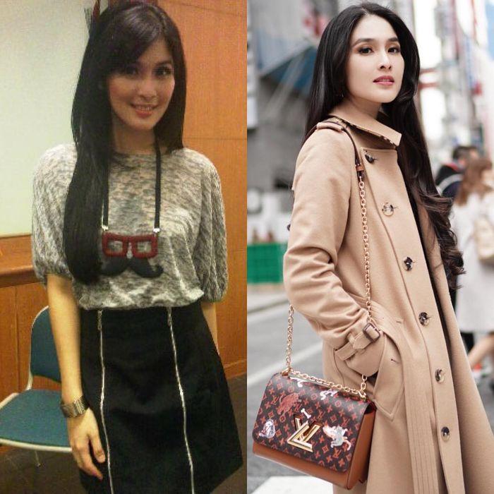 #10yearchallange milik Sandra Dewi