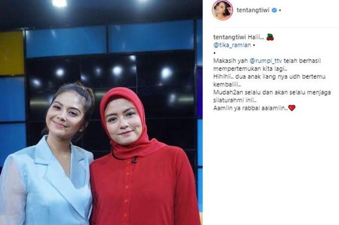 Postingan Instagram Tiwi eks T2.