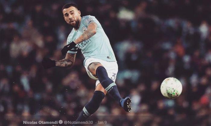 Bek tengah Manchester City dan timnas Argentina, Nicolas Otamendi.