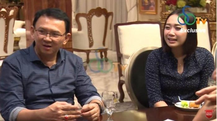 Ahok dan Puput Nastiti Devi saat berbincang dengan Ketua Partai Hanura, Oesman Sapta Odang (OSO) di channel YouTube-nya