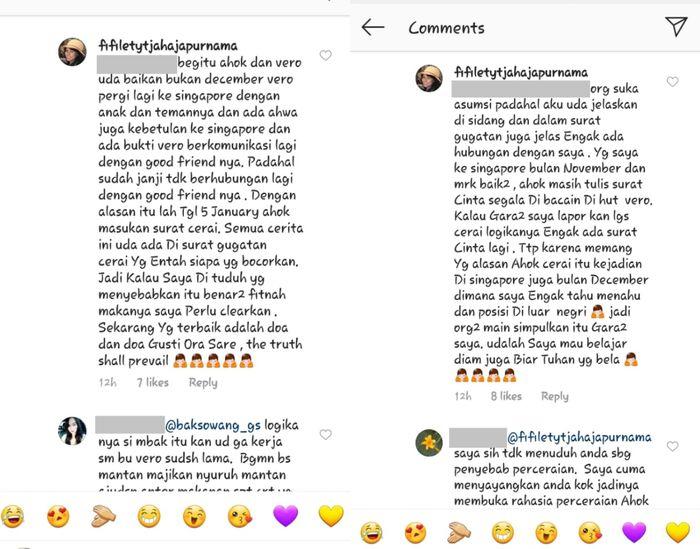 Fifi Lety ceritakan kronologi perselingkuhan yang jadi sebab Ahok- Veronica Tan cerai