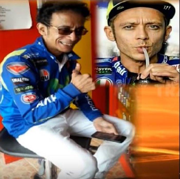 Valentino Rossi KW dari Indonesia.