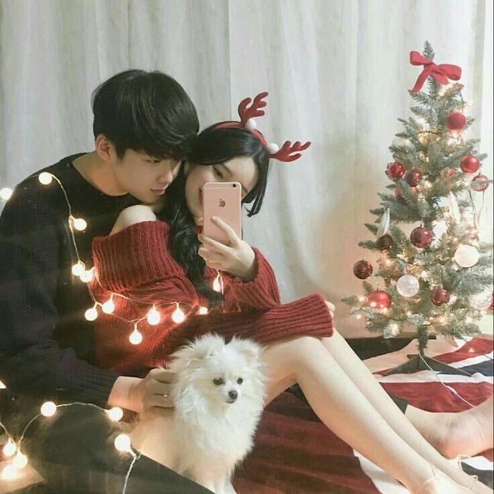 Ilustrasi pasangan di Korea Selatan dengan hewan peliharaannya