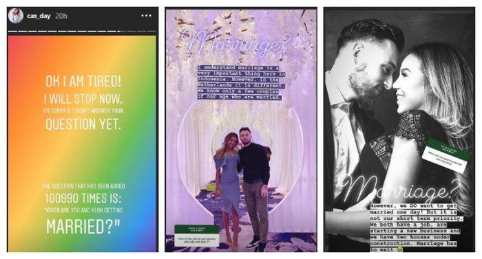 Postingan instastory Instagram kekasih Marc Klok pada, Jumat (1/2/2019).