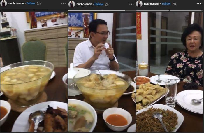 Bebas dari Penjara, Ahok Rayakan Imlek 2019 dengan Suka Cita, dari makan bersama Ibunda Sampai Ajak Anaknya Bikin Grup Band