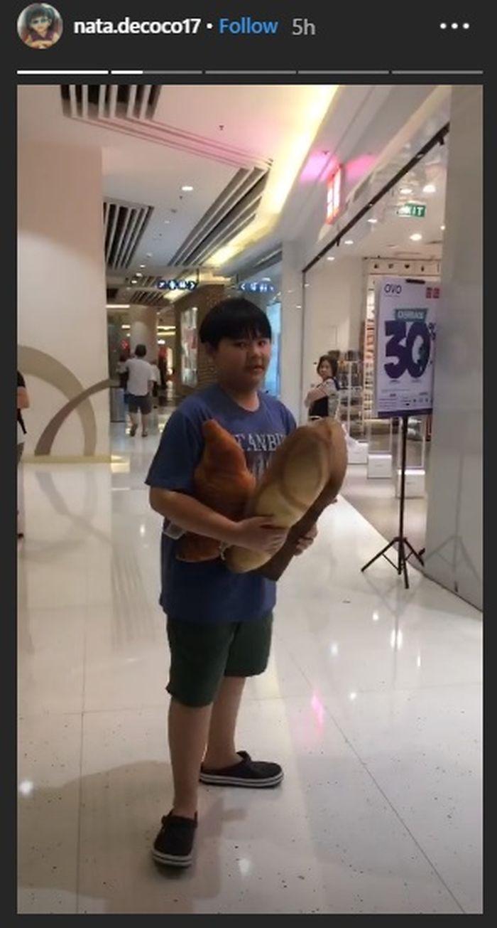 Daud, anak Ahon dan Veronica Tan, di malam Tahun Baru Imlek 2019